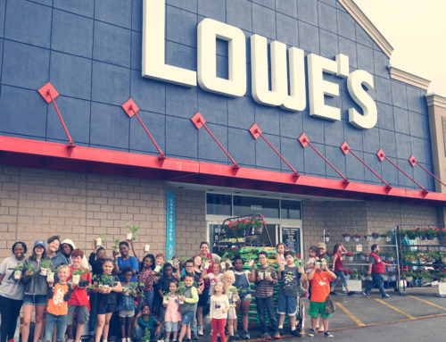 Kansas City Lowe's Makes Generous Donation to Help Local Kids Build Community Garden
